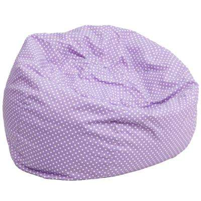 Oversized Lavender Dot Bean Bag Chair