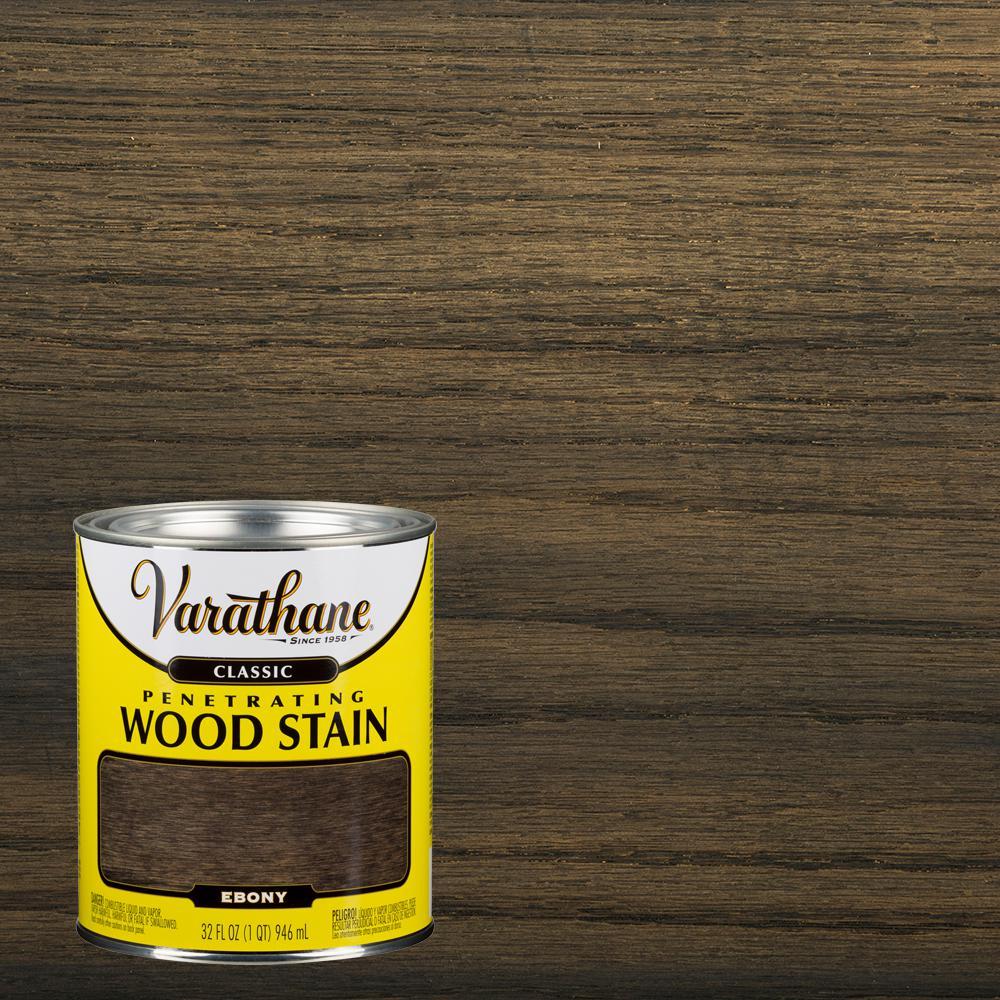 Staining wood black ebony