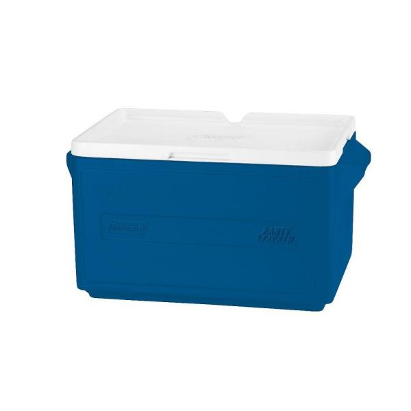 Coleman 48 Can Party Stacker Cooler Blue 3000005342 The Home Depot