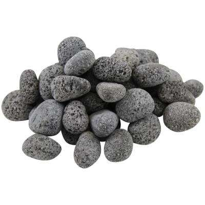 1-2 in. 10 lbs. 0.125 cu. ft. Black Lava Pebbles