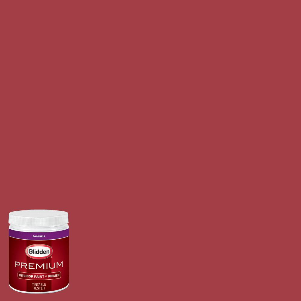 Glidden Premium 8 oz. #wnba-131D Connecticut Sun Red Eggshell Interior Paint with Primer