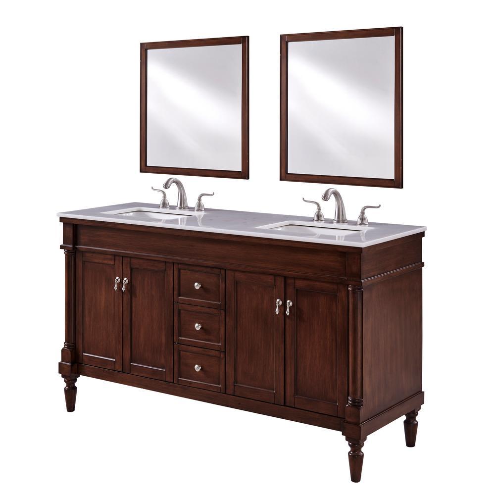 Wagner 60 in. Single Bath Vanity w/ 3 Drawers 2 Shelves 4 Doors ...