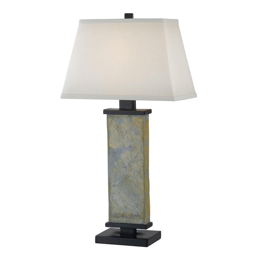 Kenroy Home Hanover 29 In Natural Slate Table Lamp 21037sl The Home Depot
