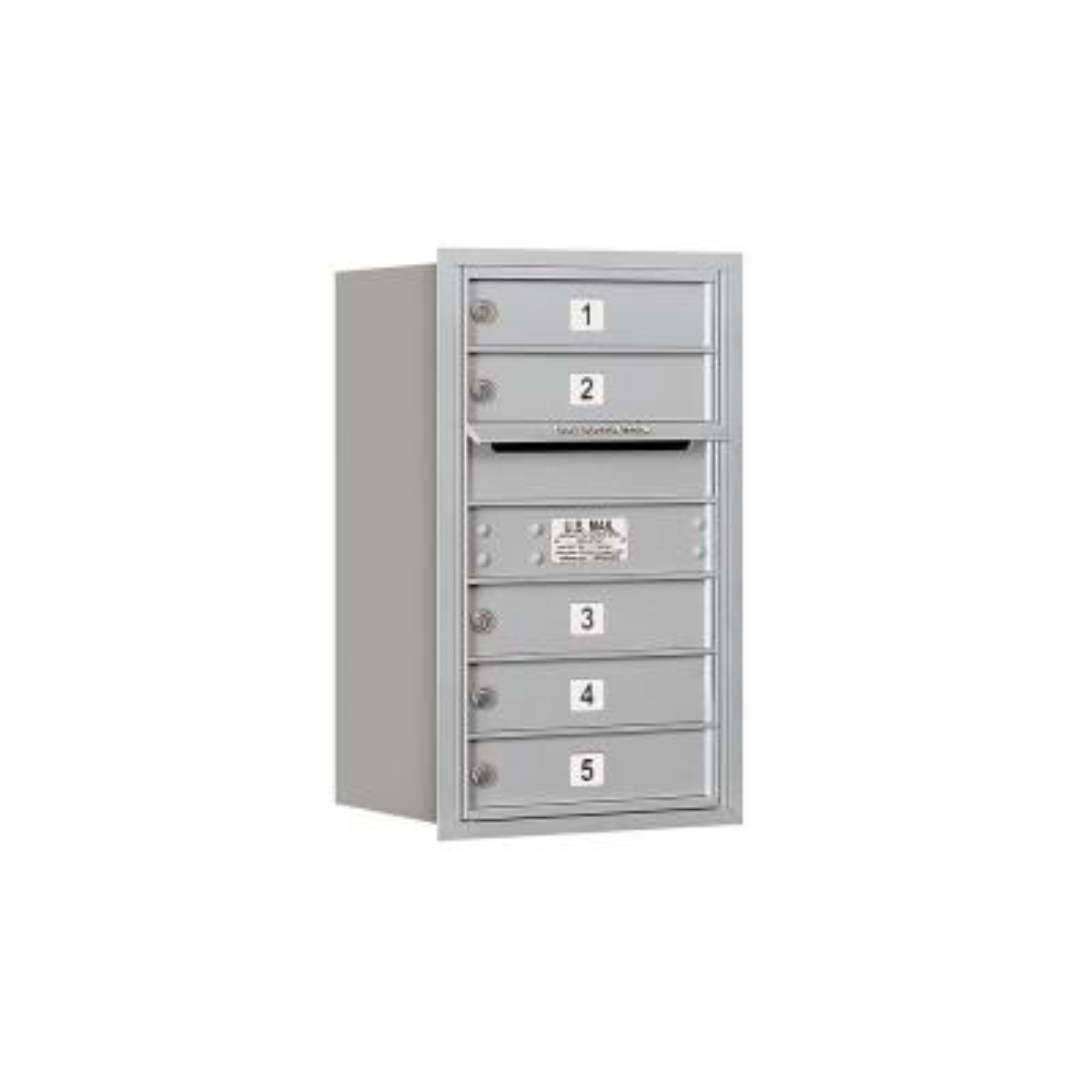 Salsbury Industries 3707S-05AFU 4C Horizontal Mailbox Aluminum