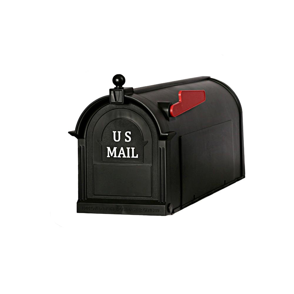 Postal Pro Ambrose Black Post Mount Mailbox Pp1000blm The Home Depot