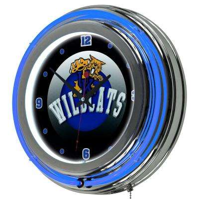 University of Kentucky 14 in. x 14 in. Honeycomb Round Neon Wall Clock