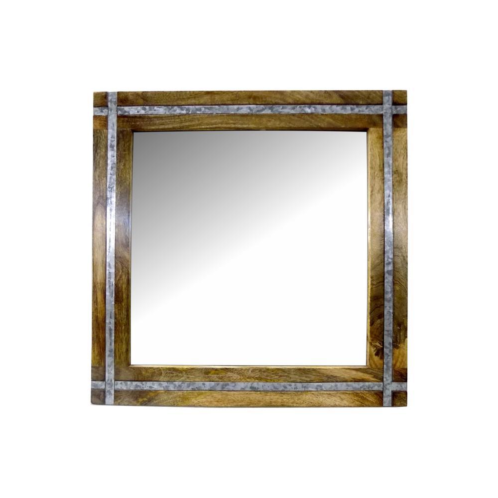 RASHI ENTERPRISES Square Wood/Galvanized with Mirror was $49.95 now $33.39 (33.0% off)