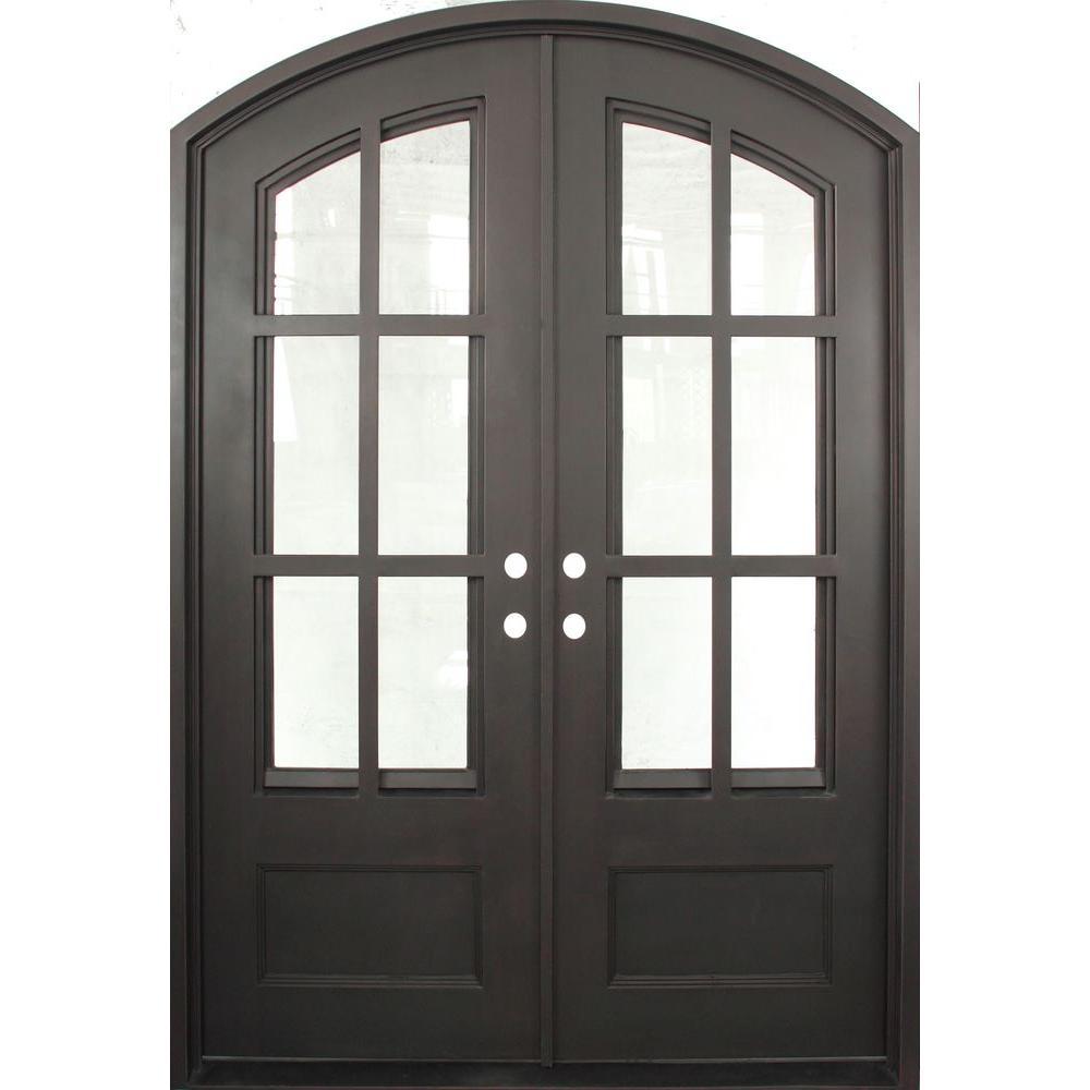 Iron Doors Unlimited 62 In X 97 5 Craftsman Clic Decorative 3 4