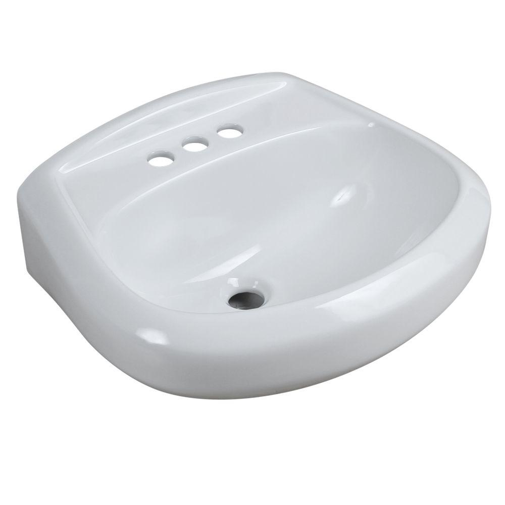 Petite Aragon 8-3/8 in. Pedestal Sink Basin in White