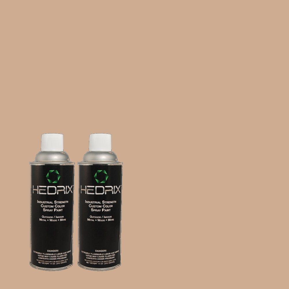 Hedrix 11 oz. Match of 760B-4 Adobe Straw Flat Custom Spray Paint (2-Pack)