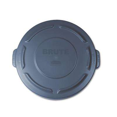Brute 20 Gal  Gray Round Trash Can Lid