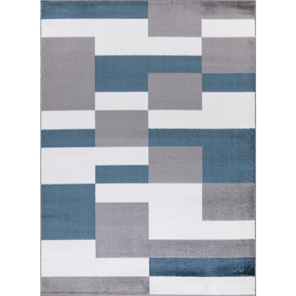 Concord Global Trading Madison Collection Squares Gray 5 ft. 3 in. x 7 ft. 3 in. Area Rug