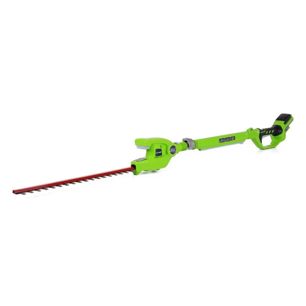 G-24 22 in. 24-Volt Cordless Extended Reach Hedge Trimmer - Battery