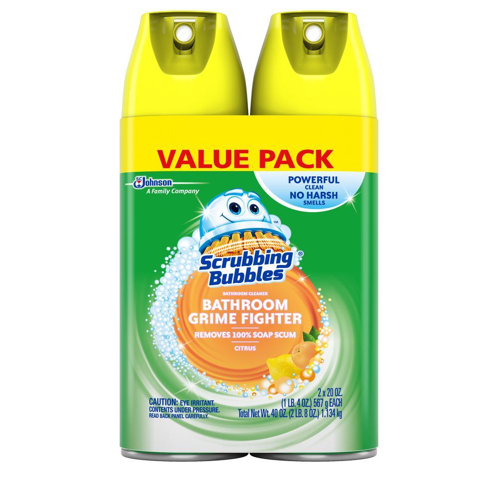 20 oz. Fresh Citrus Scent Disinfectant Bathroom Cleaner (Pack of 2)