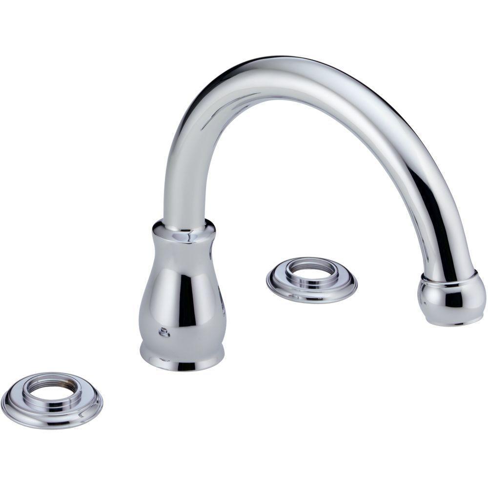 Delta Orleans 2-Handle Deck-Mount Roman Tub Faucet Trim Kit - Less Handles in Chrome-DISCONTINUED