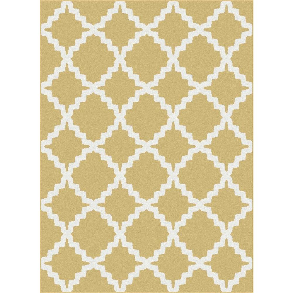 Tayse Rugs Metro Yellow 2 ft. 7 in. x 7 ft. 3 in. Contemporary Area Rug