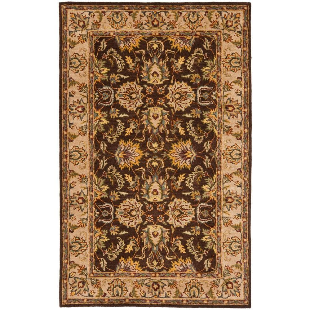 Heritage Brown/Ivory 5 ft. x 8 ft. Area Rug