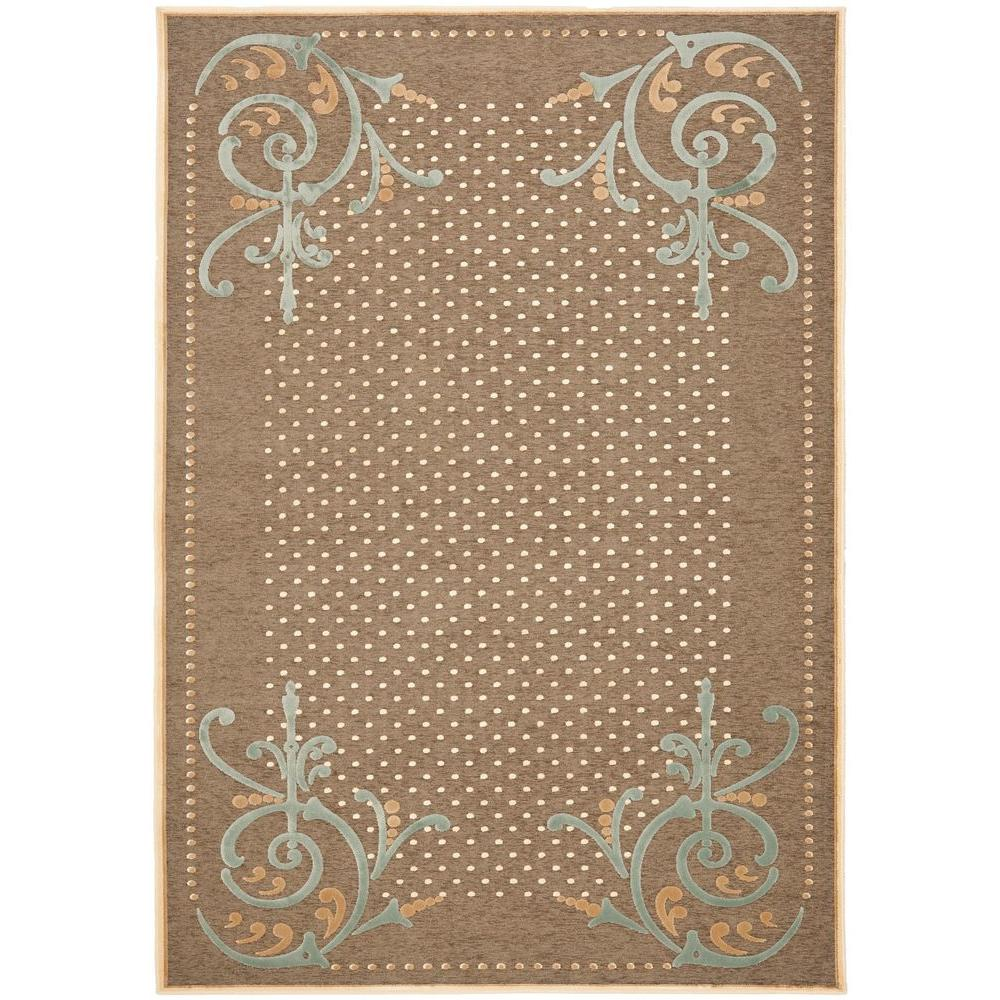 Martha Stewart Living Scrollwork Brown 5 ft. 3 in. x 7 ft. 6 in. Area Rug