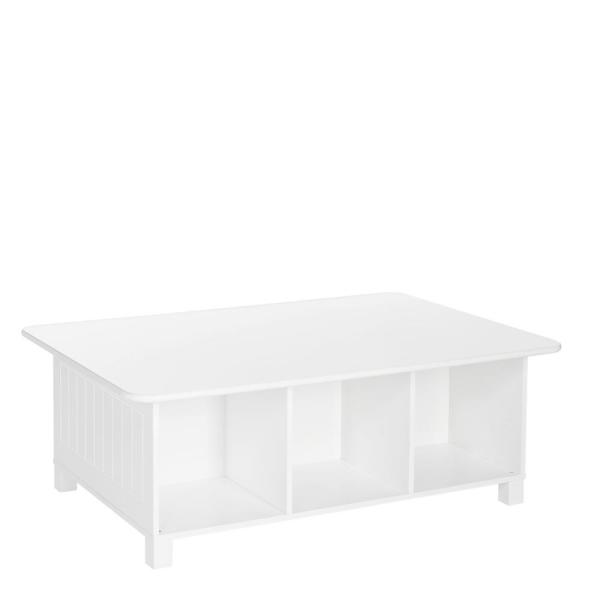 RiverRidge Home Kids White 6-Cubby Storage Activity Table 02-165