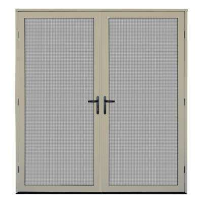 72 in. x 80 in. Almond Surface Mount Meshtec Ultimate Screen Door