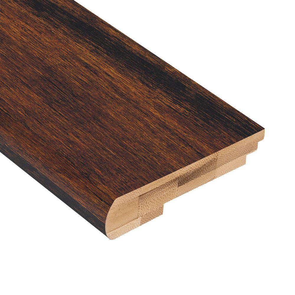 Home Legend Strand Woven Java 3/8 in. Thick x 3-7/16 in. Wide x 78 in. Length Bamboo Stair Nose Molding
