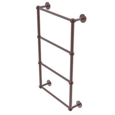 Prestige Skyline Collection 4-Tier 36 in. Ladder Towel Bar with Dotted Detail in Antique Copper