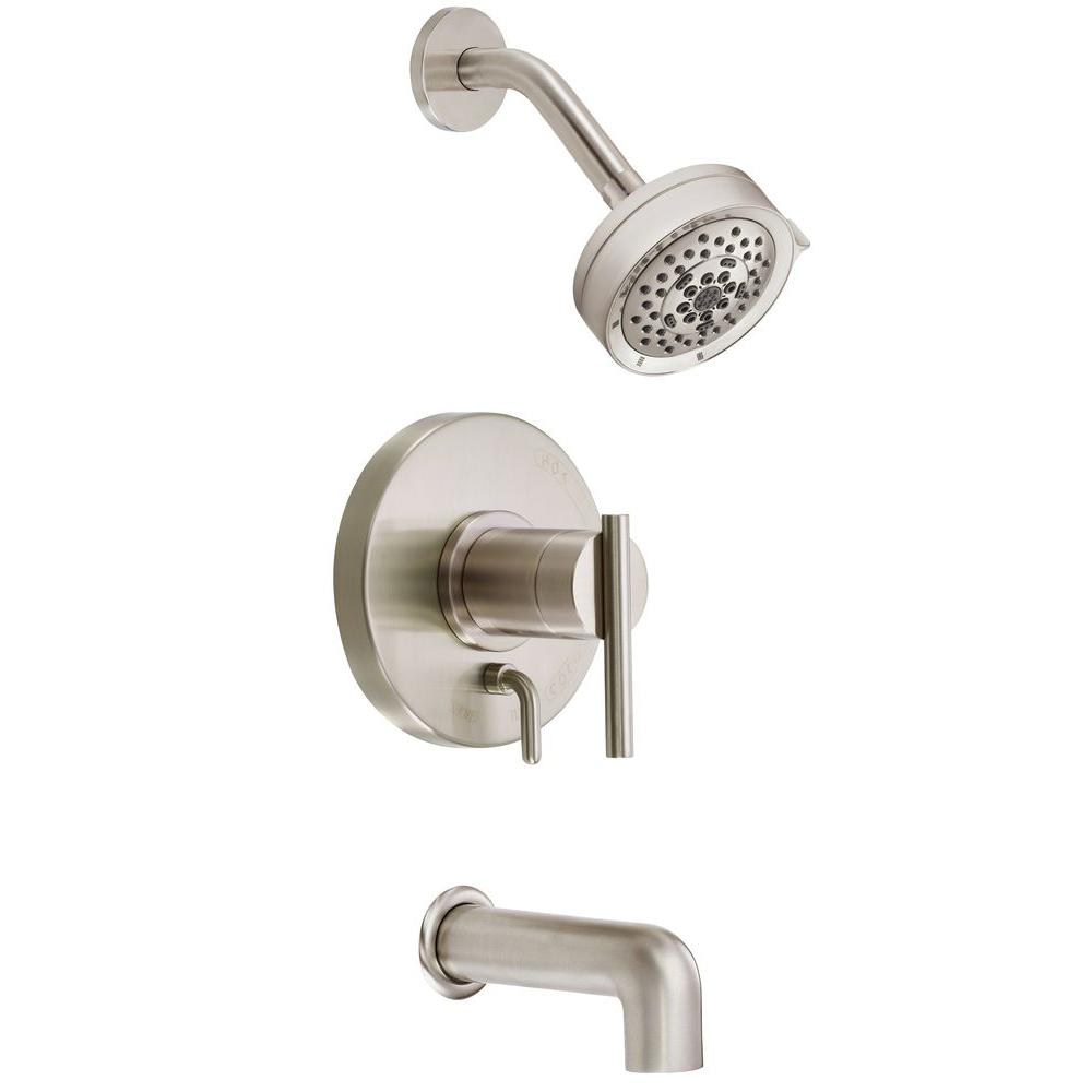 Danze Parma 1-Handle Pressure Balance Tub and Shower Faucet Trim Kit ...