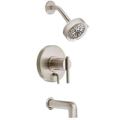 Parma 1-Handle Pressure Balance Tub and Shower Faucet Trim Kit in Brushed Nickel (Valve Not Included)