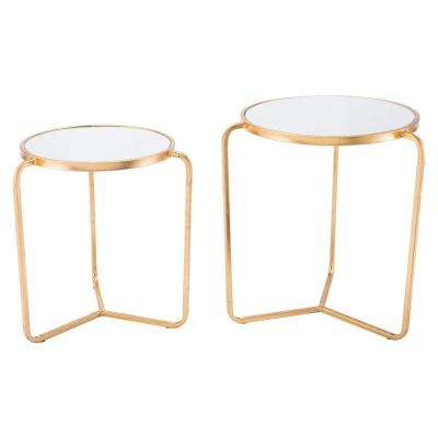 Gold Tripod Tables (Set of 2)