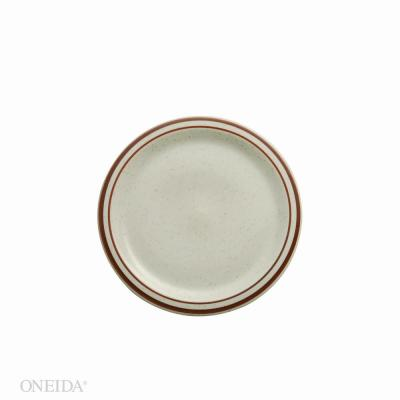 5.5 in. Dunes Porcelain Narrow Rim Plates (Set of 36)