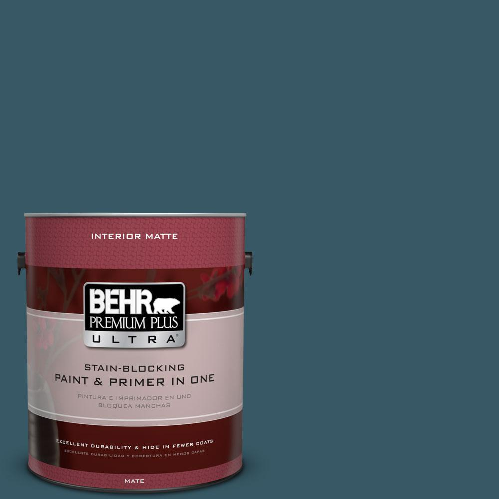 BEHR Premium Plus Ultra 1 gal. #S460-7 Deep Breath Matte Interior Paint