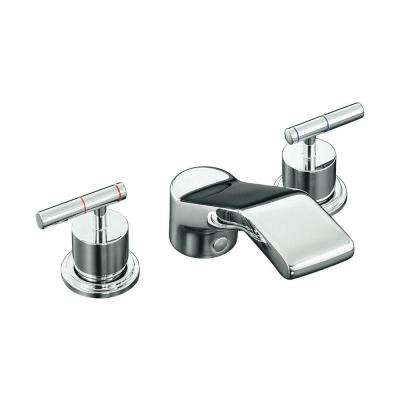 Taboret 2-Handle Deck-Mount Roman Tub Faucet in Polished Chrome