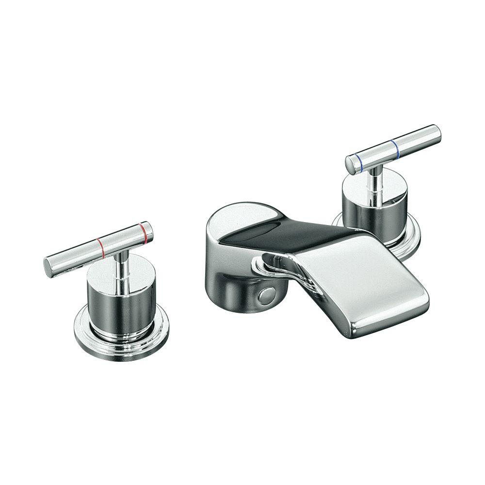 Taboret 2-Handle Deck-Mount Roman Tub Faucet in Polished Chrome (Valve Not