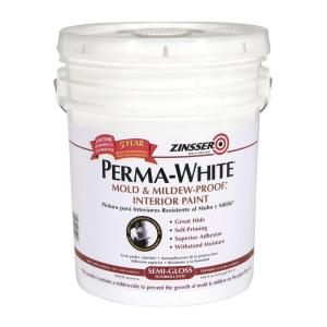Zinsser 5 Gal Perma White Mold And Mildew Proof Semi Gloss Interior Paint 2750 The Home Depot