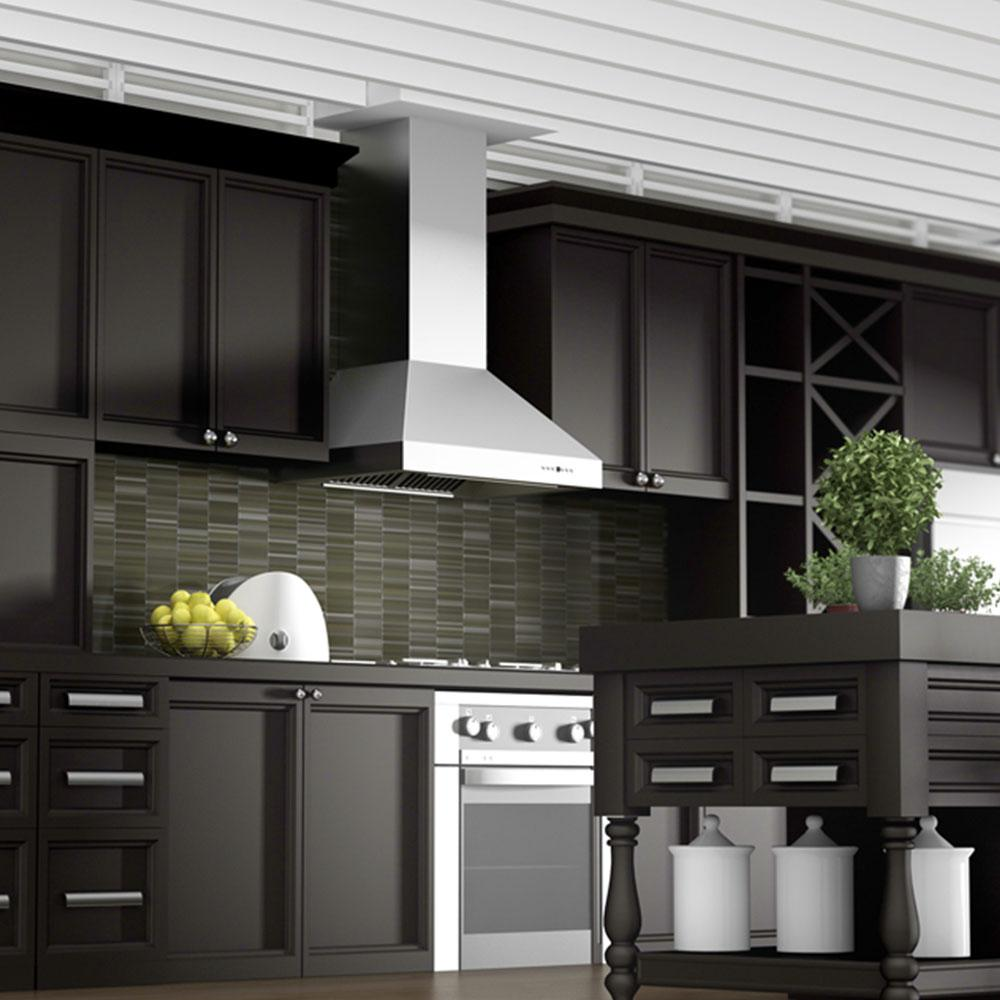 Zline Kitchen And Bath 36 In 1200 Cfm Wall Mount Range Hood Stainless Steel
