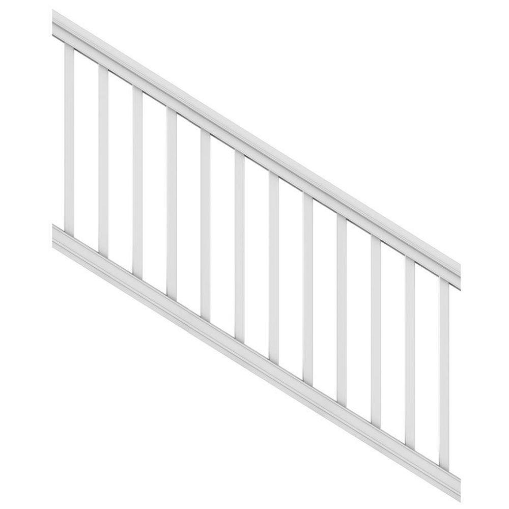Veranda 6 ft. x 36 in. White Pro Rail Stair Kit