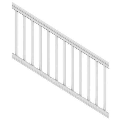 6 ft. x 36 in. White Pro Rail Stair Kit