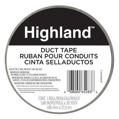 1.88 in x 30 yd (48 mm x 27.43m) Duct Tape (Case of 16)
