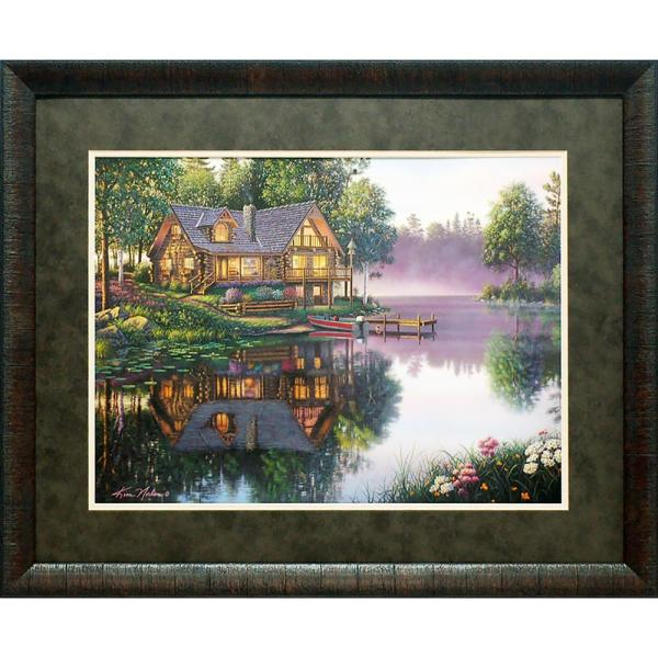 27 in. x 33 in. Cabin Fever Printed Framed Wall Art