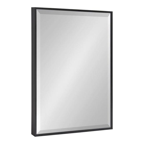 Medium Rectangle Black Beveled Glass Modern Mirror (24.75 in. H x 18.75 in. W)