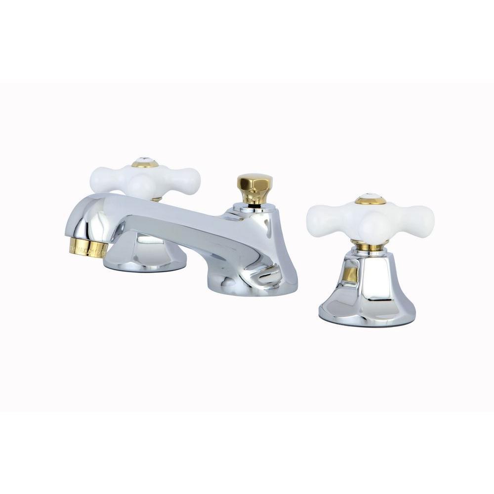 Chrome/Polished Brass - Bathroom Faucets - Bath - The Home Depot