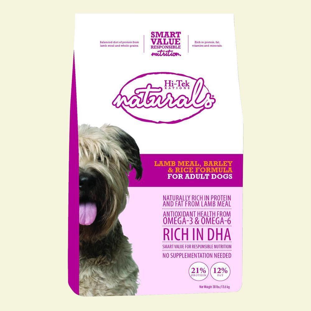 Hi-Tek Rations Naturals Adult Lamb, Barley and Rice Dry Dog Food (15 lb. Bag)-DISCONTINUED