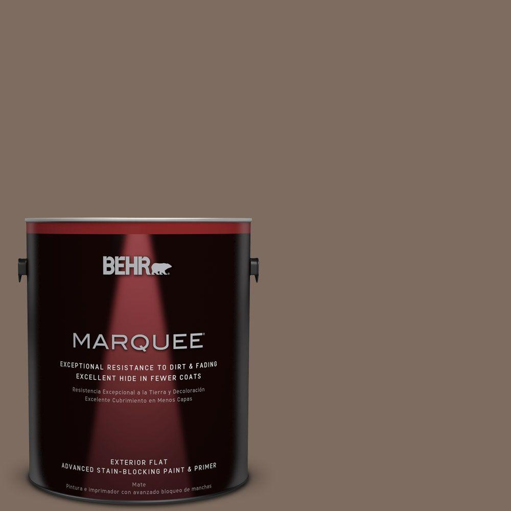 BEHR MARQUEE 1-gal. #PPU5-3 Antique Earth Flat Exterior Paint