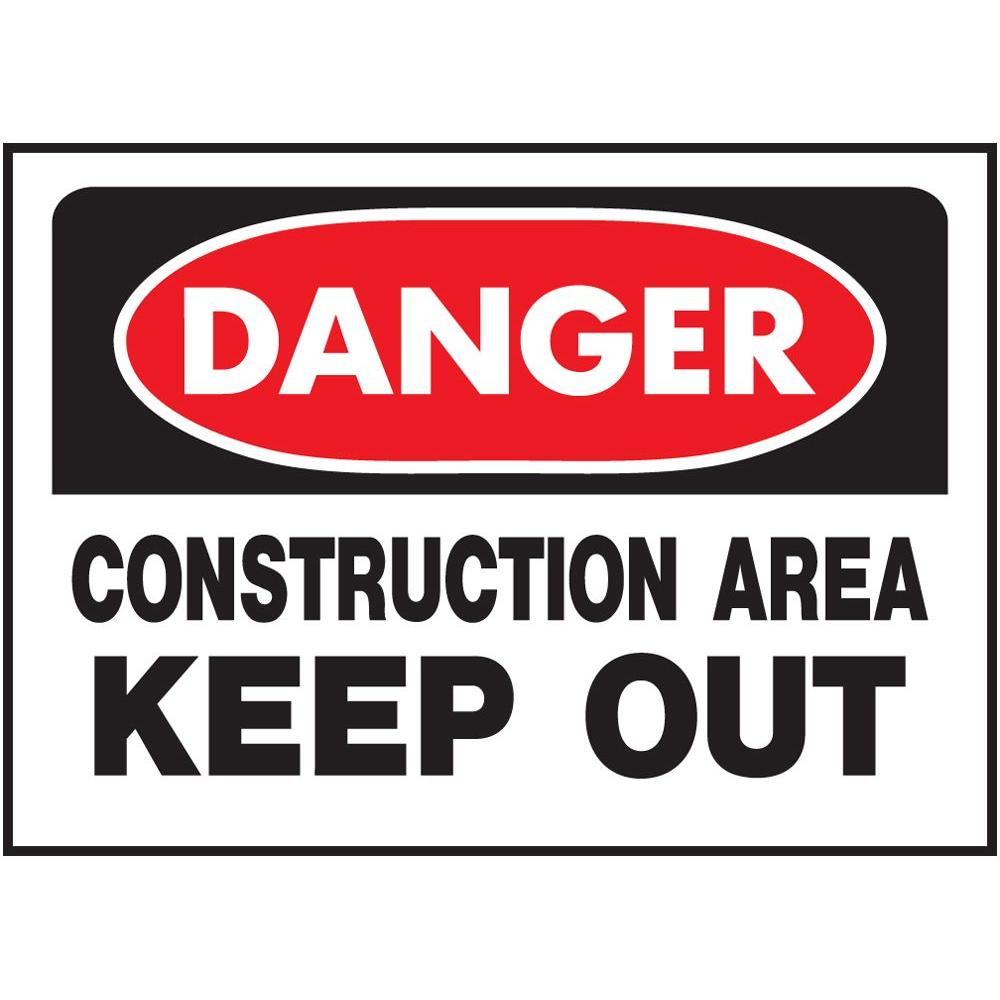 Basic Gray Premium Acrylic Sign Danger Keep Out CGSignLab 8x3