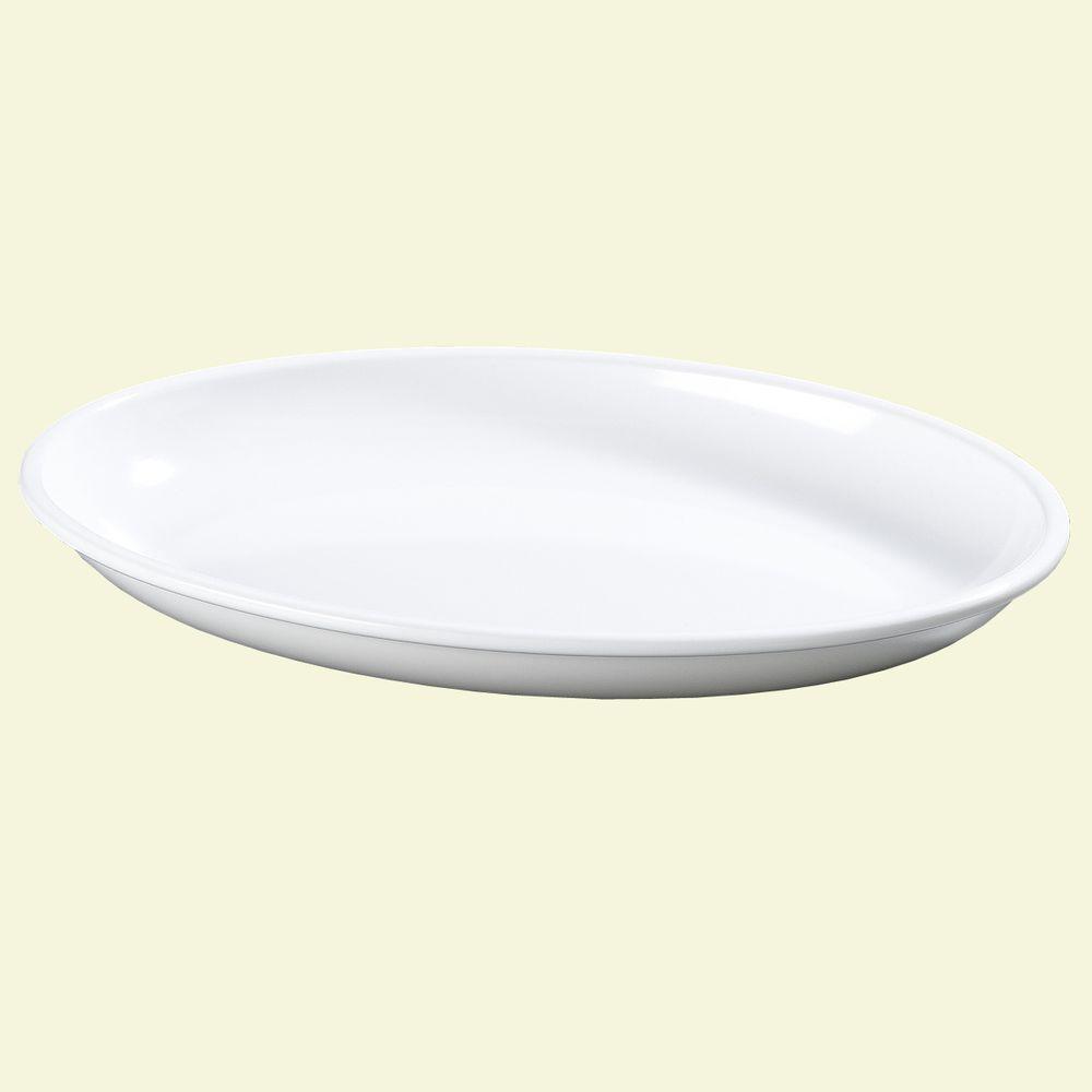 Carlisle 16 in. x 12 in. Melamine Oval Platter in White