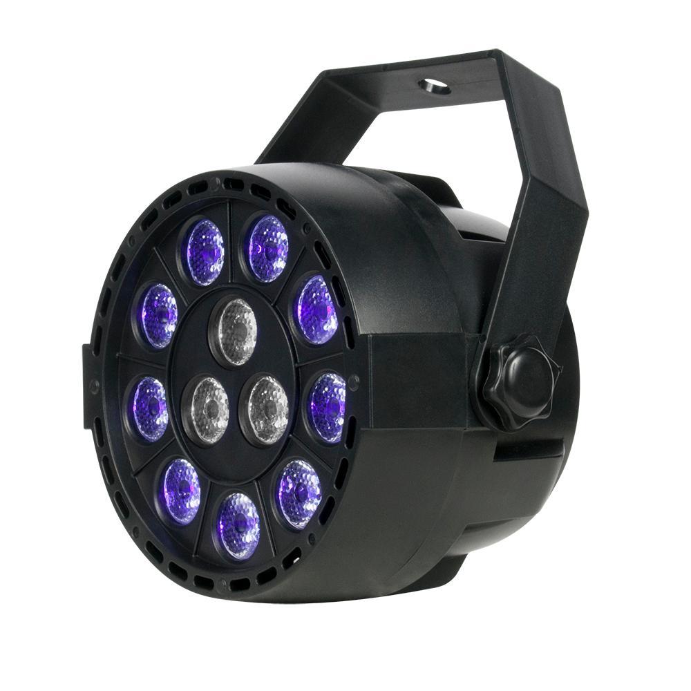5 in. 4-Watt Integrated LED Black 12 x 1-Watt White LED Light