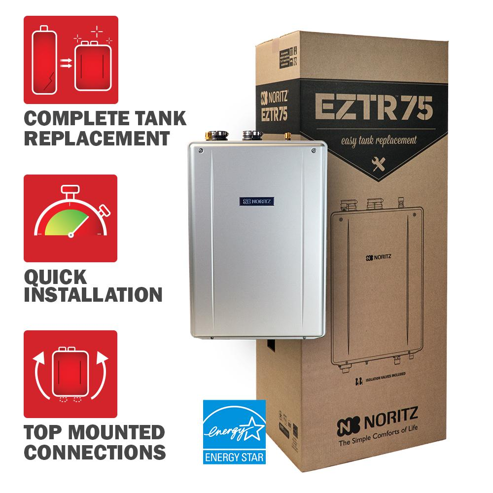 75 Gal. Tank Replacement-Liquid Propane Hi-Efficiency Indoor Tankless Water