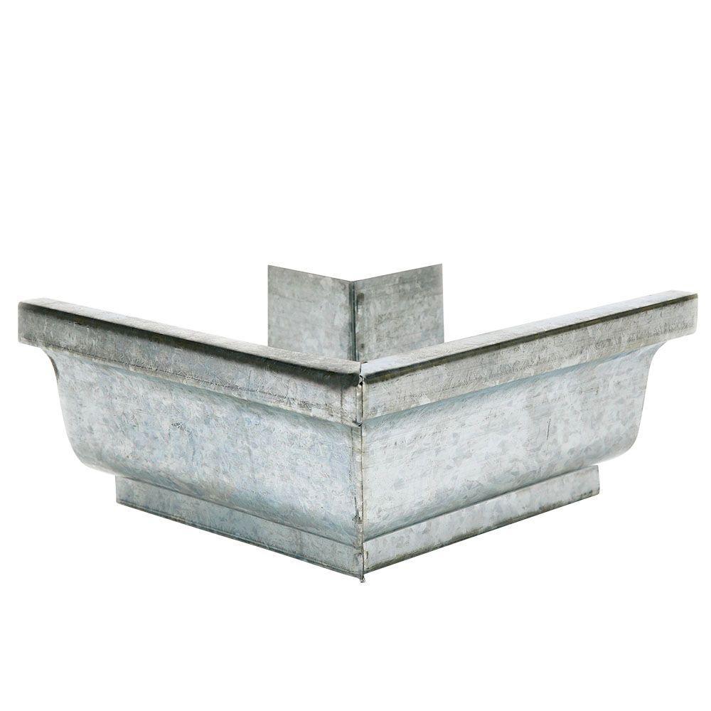 4 in. Galvanized-Steel Outside Gutter Mitre