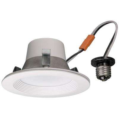 4 in. White 65-Watt Equivalent Integrated LED Smart Color Tunable 2700K-5000K Wink Compatible Recessed Trim