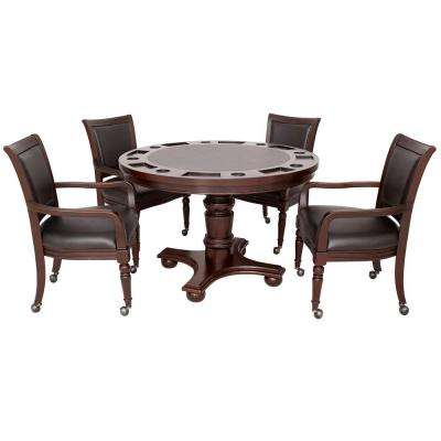 Bridgeport 2-in-1 Poker Game Table Set in Walnut Finish